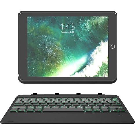 """Inateck Backlight Tastatur Keyboard Case mit Ambient-Hintergrundbeleuchtung und Abnehmbarer Tastatur kompatibel mit 9,7"""" iPad"""