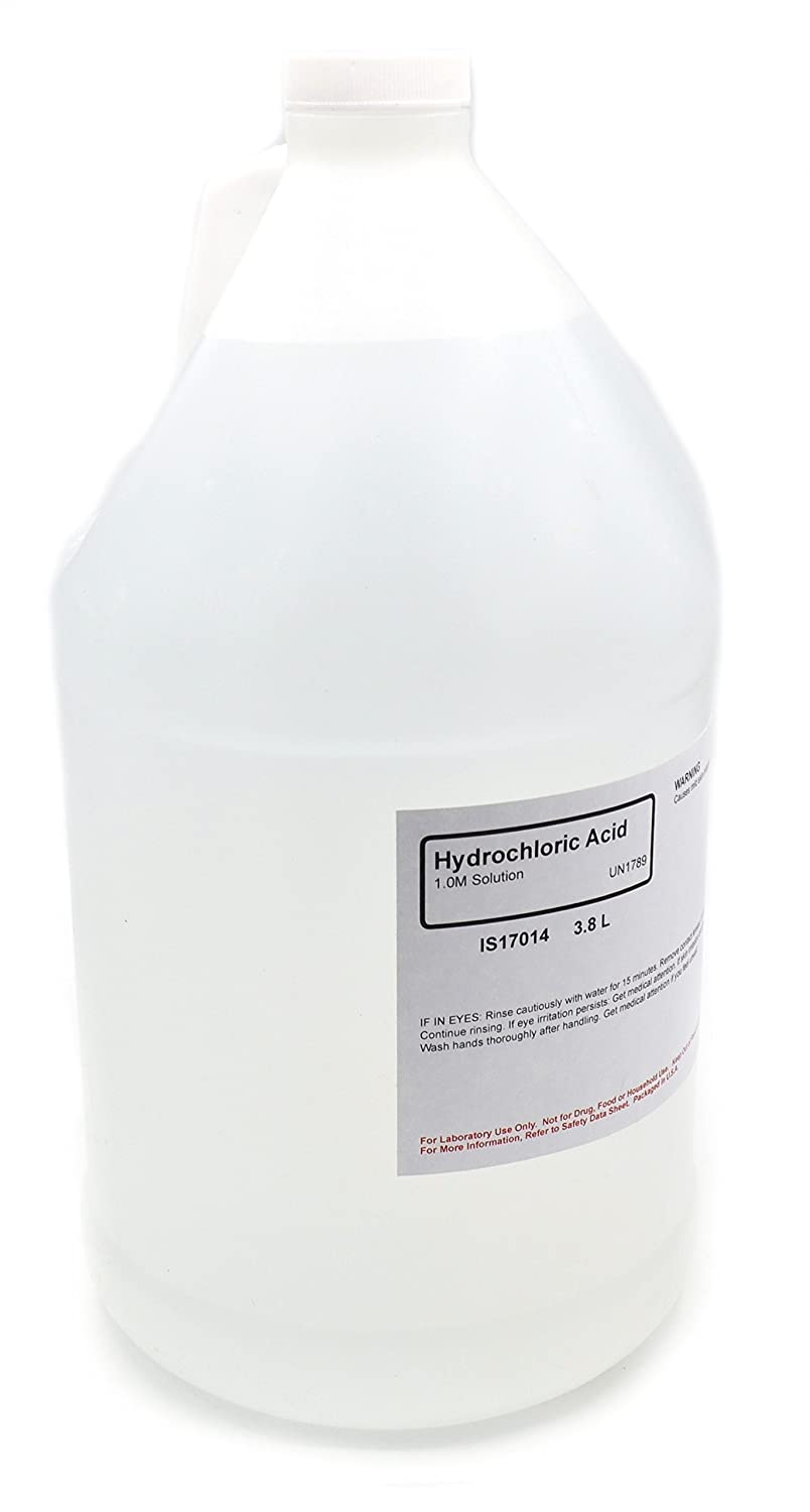 Hydrochloric Acid Solution, 1.0M, 3.8L - The Curated Chemical Collection