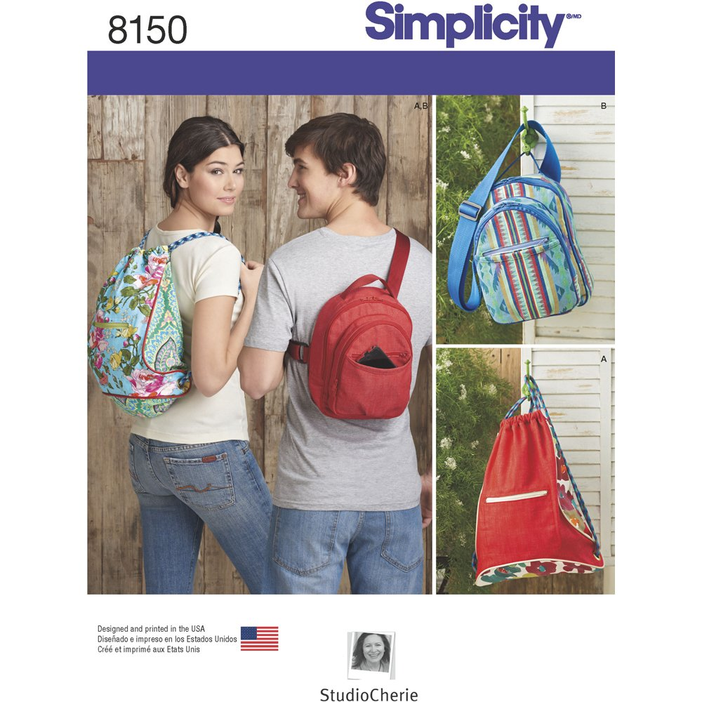 Simplicity Creative Patterns Simplicity Pattern 8150 Backpacks in Two Styles, Size: One Size (One Size)