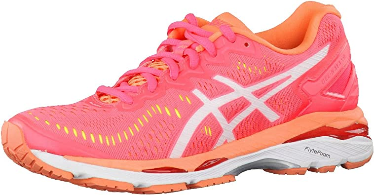 Asics Gel-Kayano 23 Zapatillas de running para mujer, color rosa, talla 46 EU: Amazon.es: Zapatos y complementos