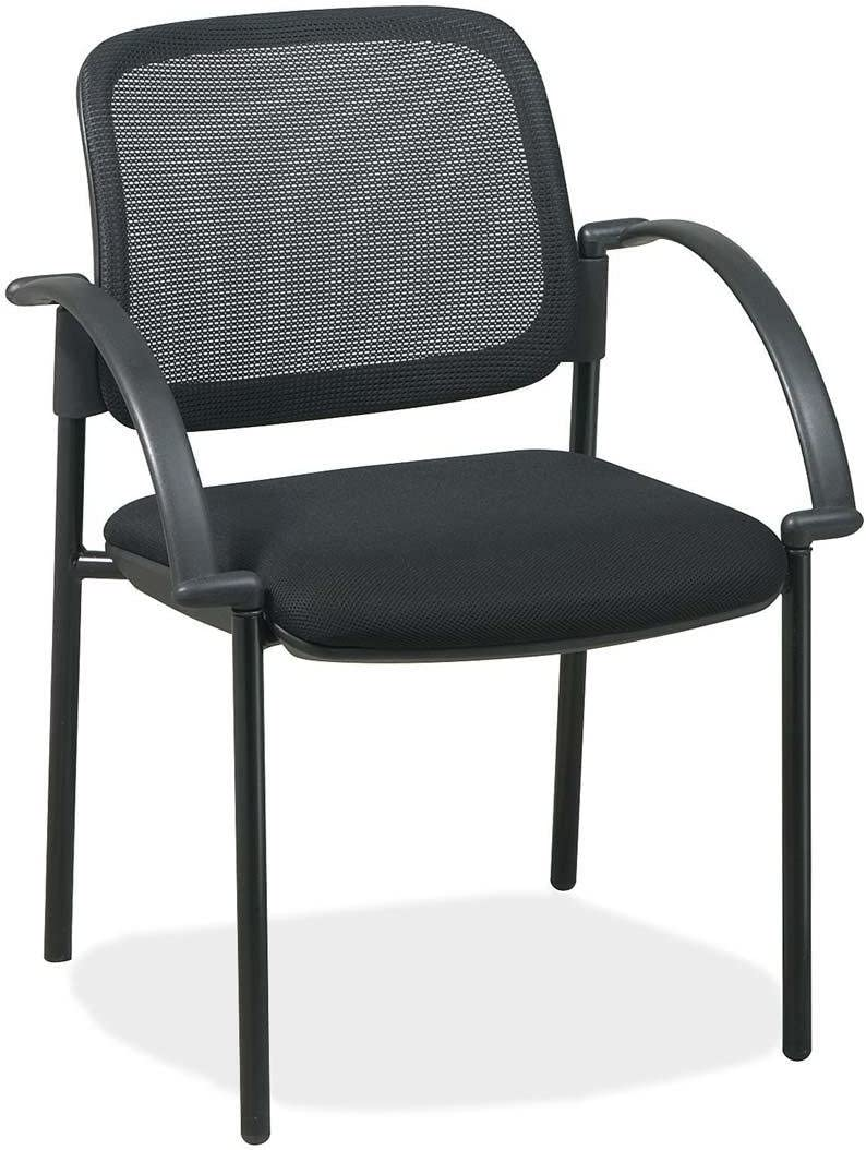 Lorell Guest Chairs, Mesh Seat, 24 by 23-1 2 by 32-3 4-Inch, Black