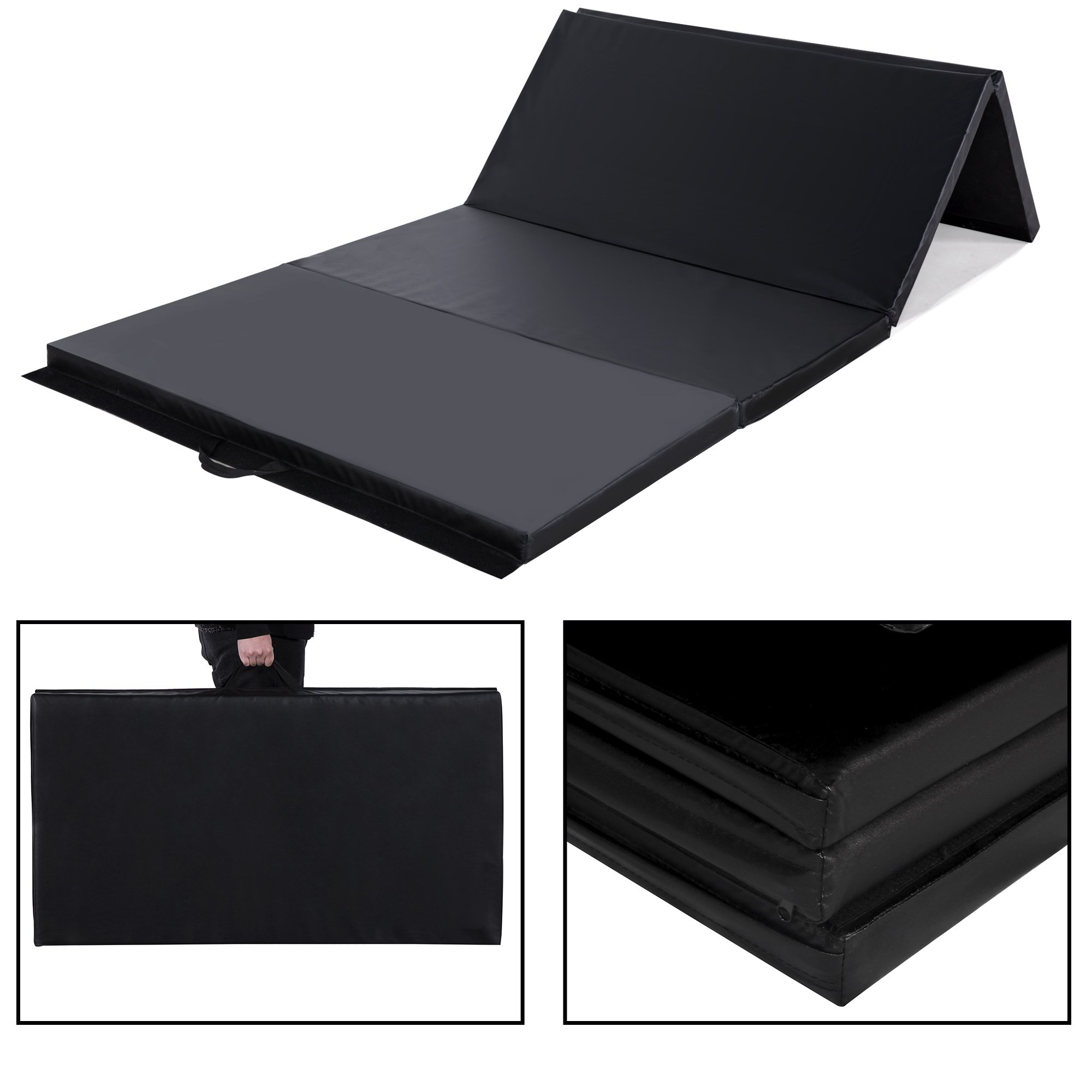Sportmad 4'x8'x2/4'x10'x2 Thick Folding Panel Gymnastics Tumbling Mat for Home Gym Fitness Exercise by Sportmad (Image #1)