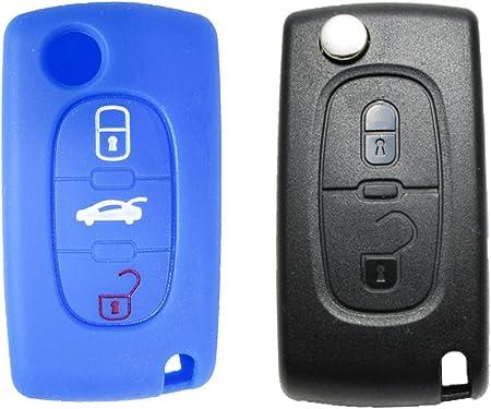 Gradert Elektronik 1x Blaue Silikon Hülle Für 3 Tasten Elektronik
