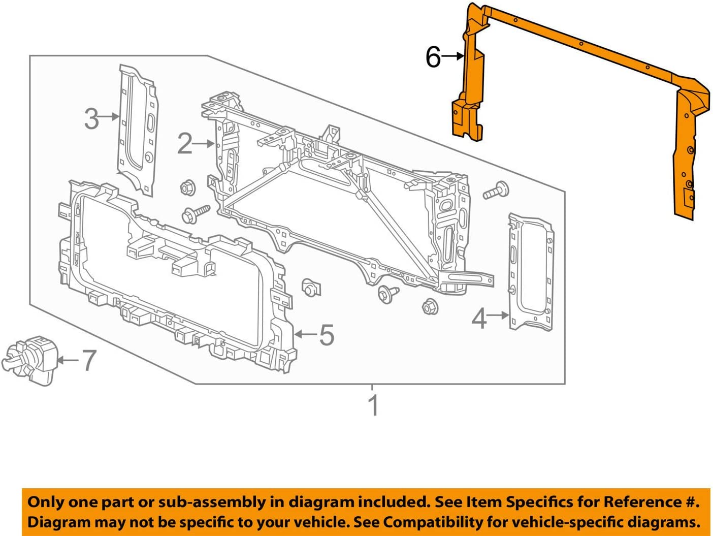 Radiator Air GM 23484640 Seal