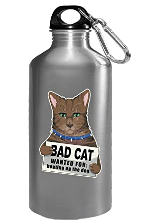 Bad cat gato divertido regalo para gatos. - botella de agua ...