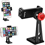 Ruittos Phone Holder for Tripod, Metal Cellphone Tripod Adapter 360 Degree Rotation Vertical Video Smartphone Bracket Clip Co