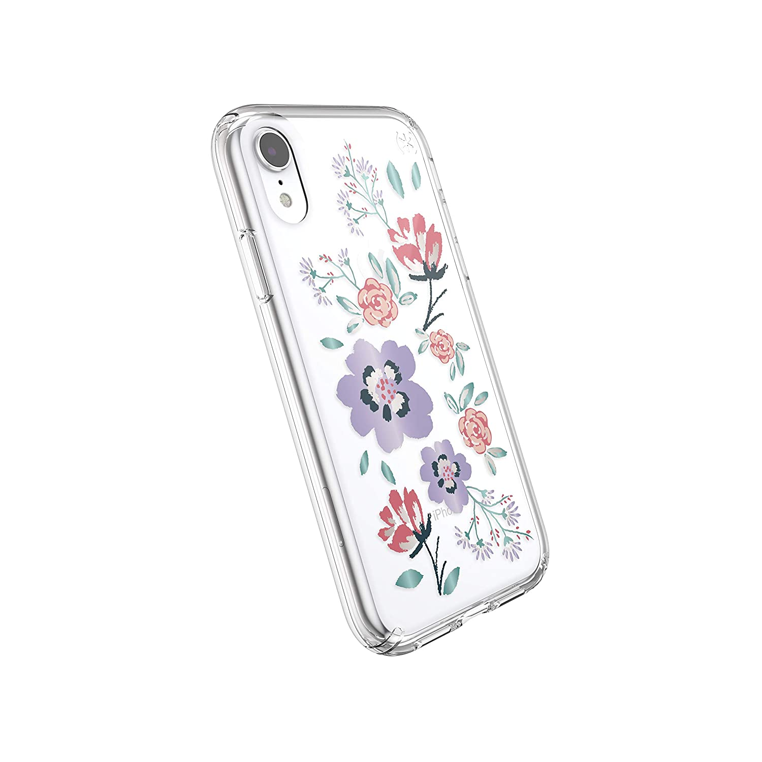 official photos d906a 317f3 Speck Products Presidio Clear + Print iPhone XR Case, CanopyFloral  Lavender/Clear