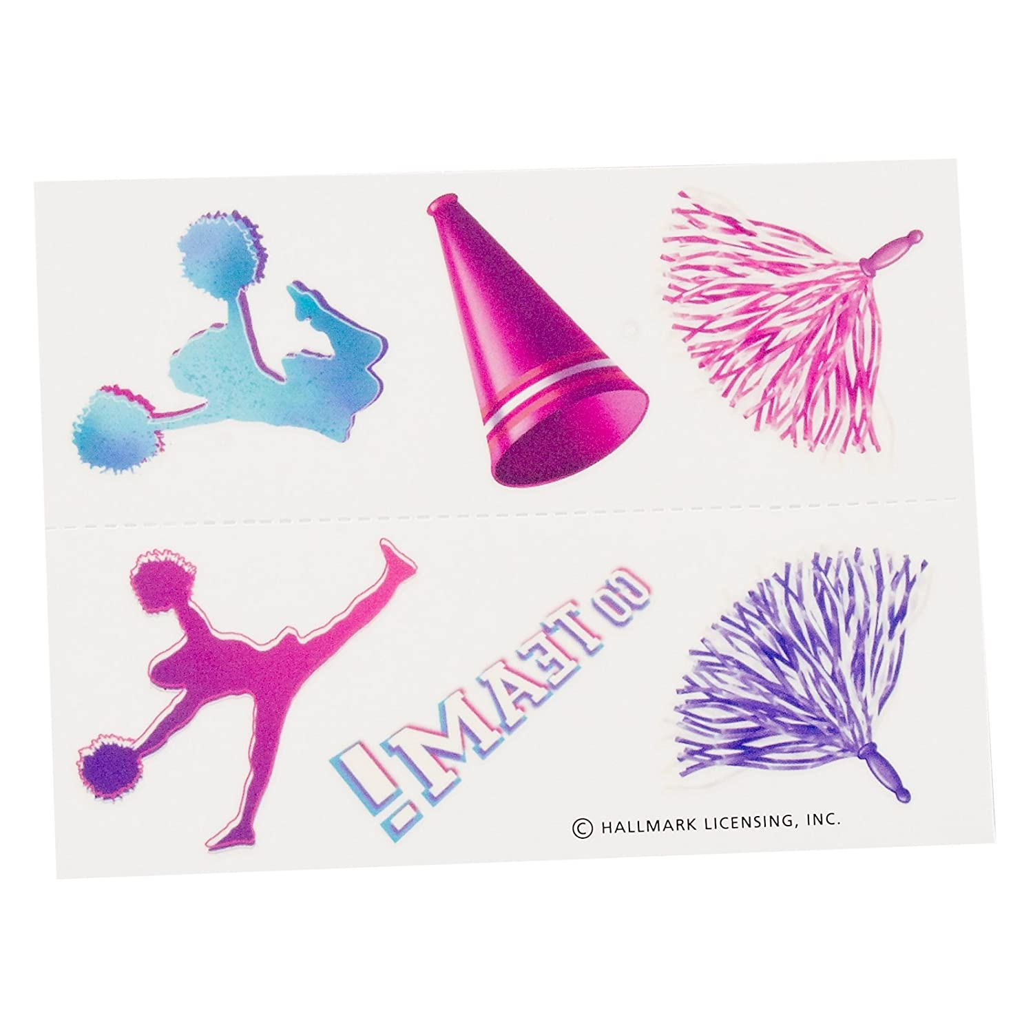 Hallmark Something To Cheer About Tattoos 2 Sheets