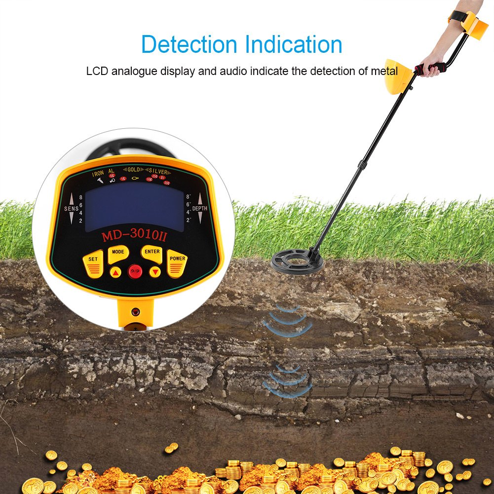 Amazon.com: Handheld Metal Detector,Acogedor Deep Sensitive Metal Detector with LCD Display,Distinctive Audio Prompt,Waterproof Dial: Home Improvement