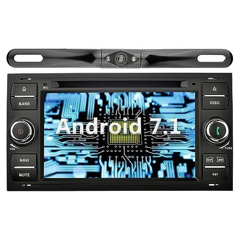 YINUO 7 Pulgadas Doble Din Android 7.1.1 Nougat 2GB RAM Quad Core Pantalla Táctil Estéreo Reproductor De DVD GPS ...