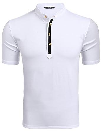 Wixens Basic - Polo de Manga Corta para Hombre 63-Blanco XL ...