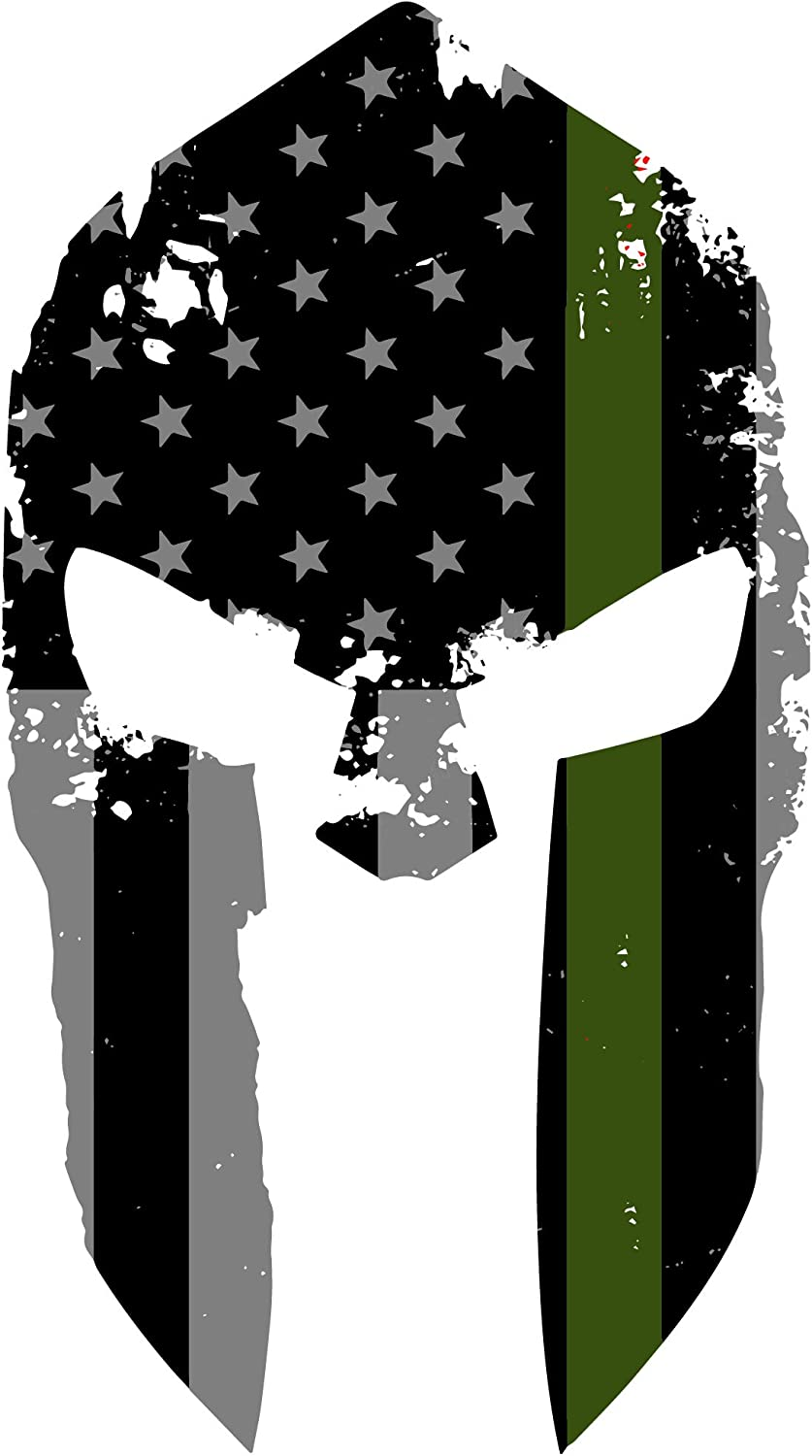 Thin Green Line Punisher version 2 USA Flag Exterior Window decal Free Shipping