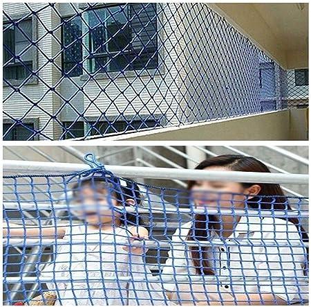 Barri/ère de jardin corde filet bleu mur de d/écoration enfants filet de s/écurit/é anti-chute protection filet balcon escalier trampoline garde-corps for animaux de compagnie isolation corde de tissage