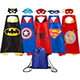 Supreal Comics Cartoon hero Cape and Mask Costumes Set for Kids