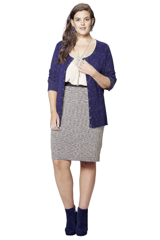 Studio Untold Women's Plus Size Cardigan 702192