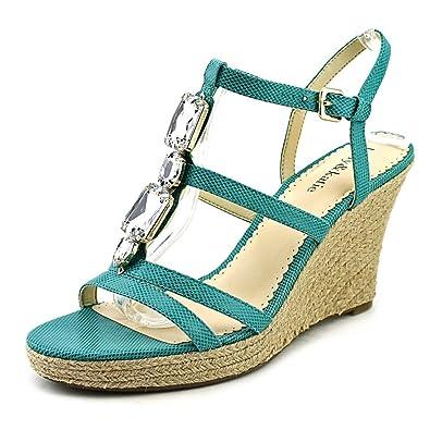 eb45b6734c9 Kelly   Katie Rachel Women US 9 Green Wedge Sandal  Amazon.co.uk  Shoes    Bags