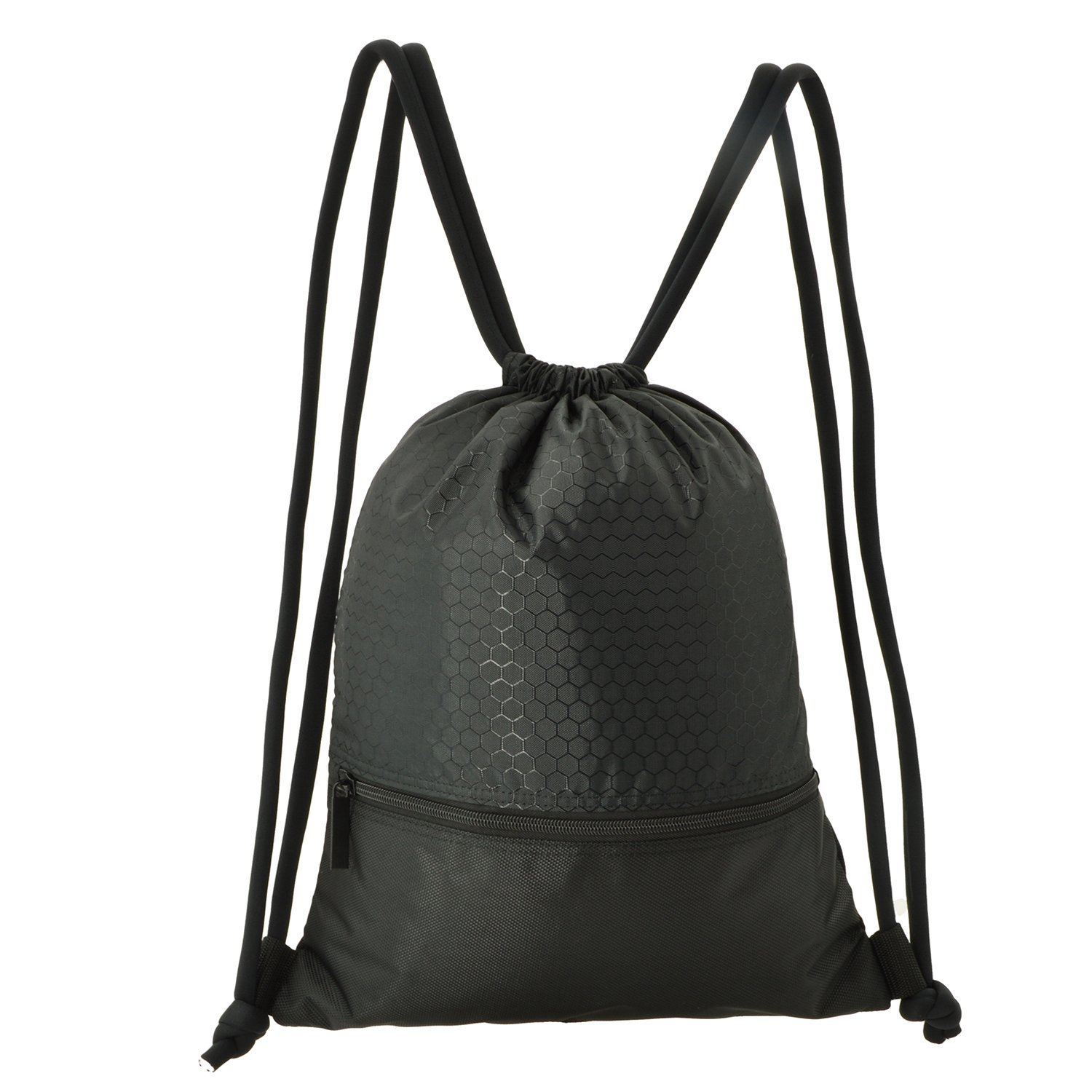 641a53ba3a7c WinCret Drawstring Backpack Gym Bags for Men Women Kids - Waterproof Sackpack  Gymsack with Large Zipper Pocket for Basketball, Travel, and Other Sports