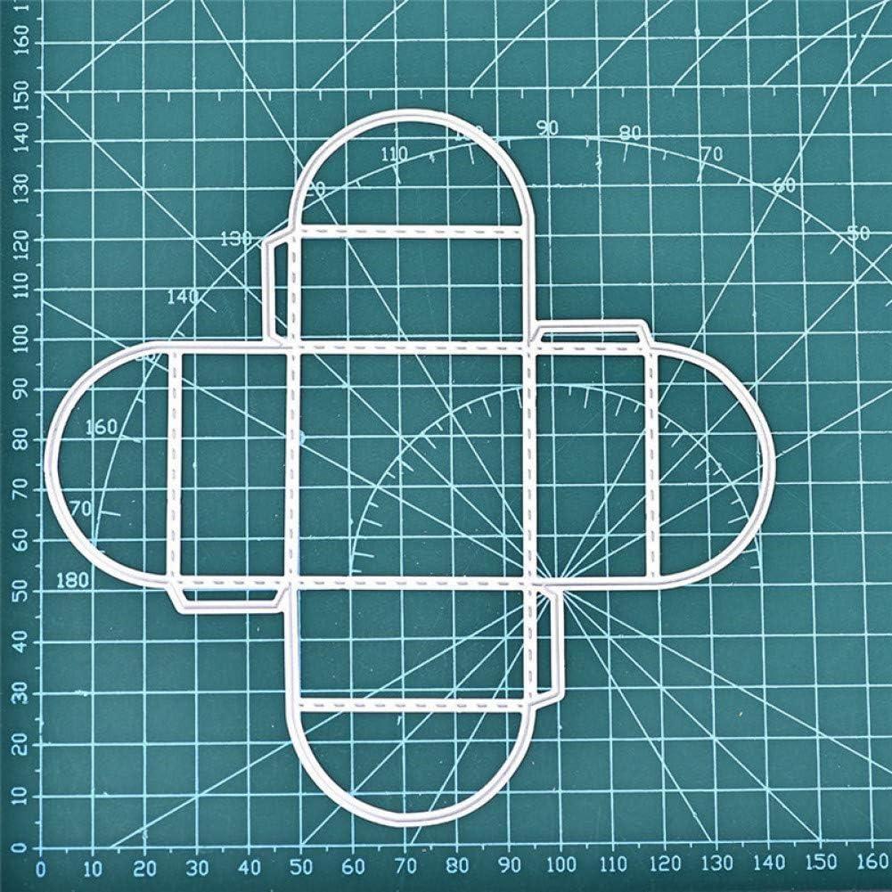 KKYHV D/écoupe Dies Bo/îte Carr/ée en M/étal De Coupe Matrices Artisanat Bo/îte-Cadeau Scrapbook DIY Album Papier D/écoup/é D/écoration de La Maison