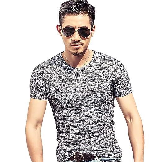 ca22666f460 ZBZ Fashion Men T Shirts Summer Top Tees Males Clothing Short Sleeve Casual  O Neck Cotton