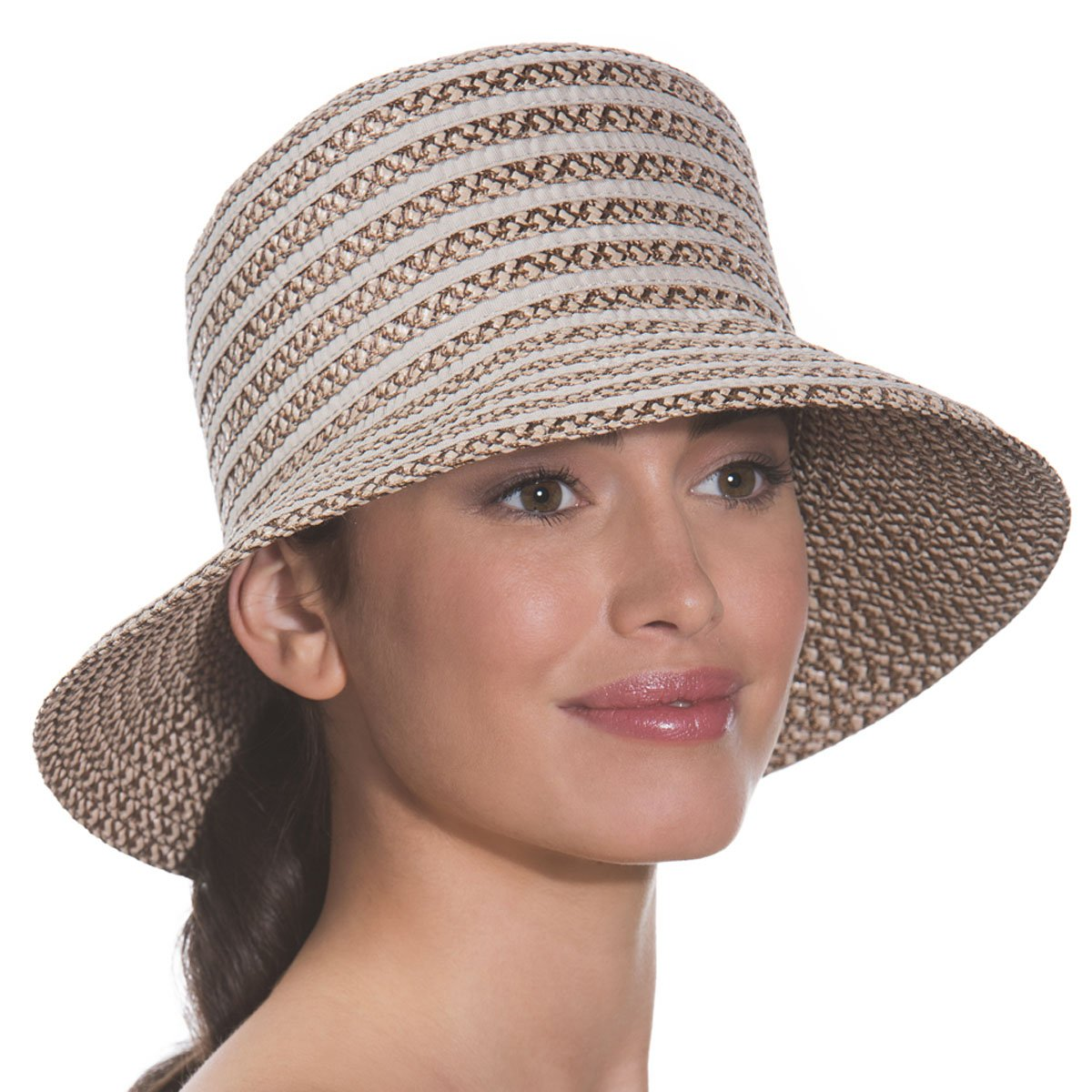 Eric Javits Luxury Fashion Designer Women's Headwear Hat - Braid Dame - Bark