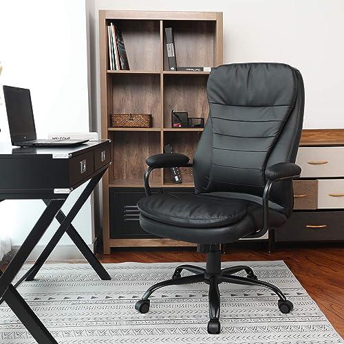 Office Computer Desk Chair Ergonomic High Back Swivel Task Chair Adjustable Seat in Back