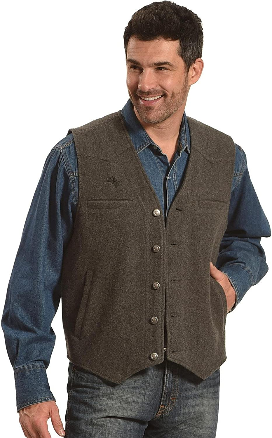 Men's Steampunk Clothing, Costumes, Fashion Wyoming Traders Mens Wool Vest - Vb-Black $62.49 AT vintagedancer.com