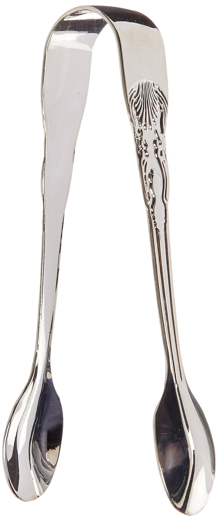 Elegance Silver 86241 Silver Plated Sugar Tongs, 4-1/2''