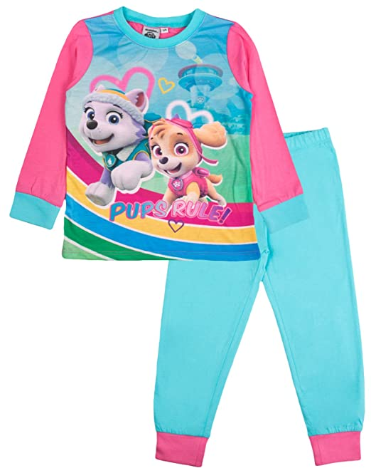 Nickelodeon - Pijama dos piezas - Manga Larga - para niño rosa Skye & Everest -
