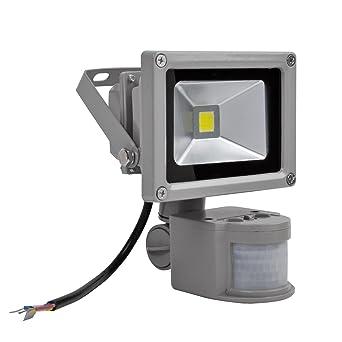 20W Foco LED con Sensor Movimiento,Proyector LED Exterior,Blanco Frio con Detector PIR