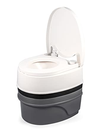Spring Loaded Toilet Seat.Camco Premium Portable Travel Toilet With Three Directional Flush And Swivel Dumping Elbow Designed For Camping Rv Boating And Other Recreational