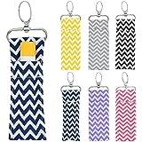 Lipstick Holder Keychain, 2pcs/6pcs Wave Pattern Lip Balm Chapstick Pouch Strap Key Ring Bag Mothers Girls Gift(Six Clours)