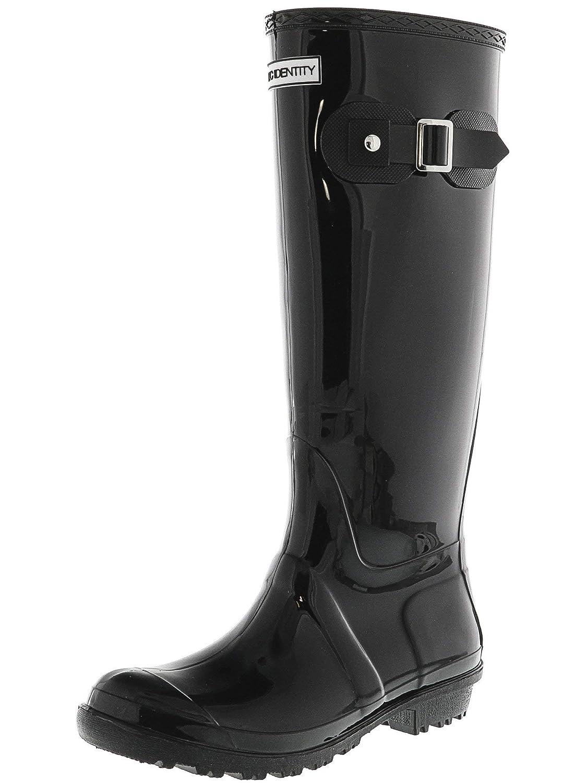 Gloss Black Exotic Identity Original Tall Rain Boots