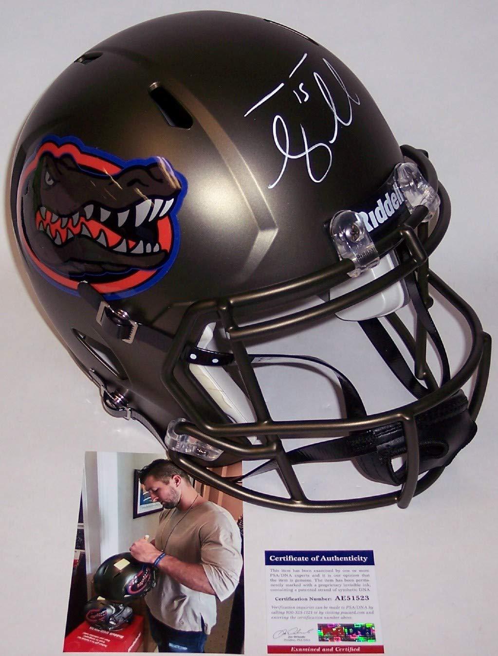 Tim Tebow Autographed Hand Signed Florida Gators Swamp Green Speed Full Size Football Helmet PSA/DNA