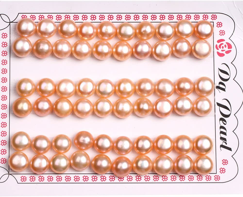 Bronze Pearls Circle of Stones 8 mm Round Fresh Water Pearls Natural Pearls jewelry making supplies pearl strands