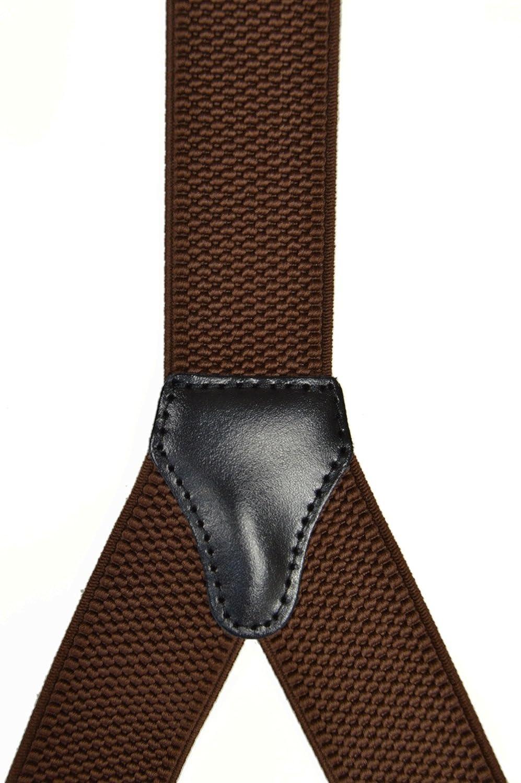 Olata Unisex Bretelle regolabili con 2 pezzi Vera Pelle Asole In Vari Colori 3.5cm larghezza