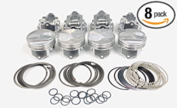 """.040/"""" Chevy 7.4//454 Silvolite Hypereutectic 30cc Dome Pistons+MOLY Rings Kit"""