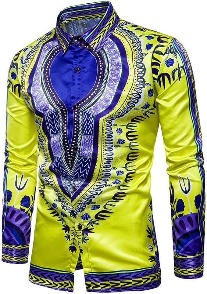 Chickwin Hombre Casual Manga Larga Camisa de Algodón, Moda Transpirables Fácil de Planchar de Slim Fit para Traje, Business, Bodas, Tiempo Libre Camisas: Amazon.es: Ropa y accesorios