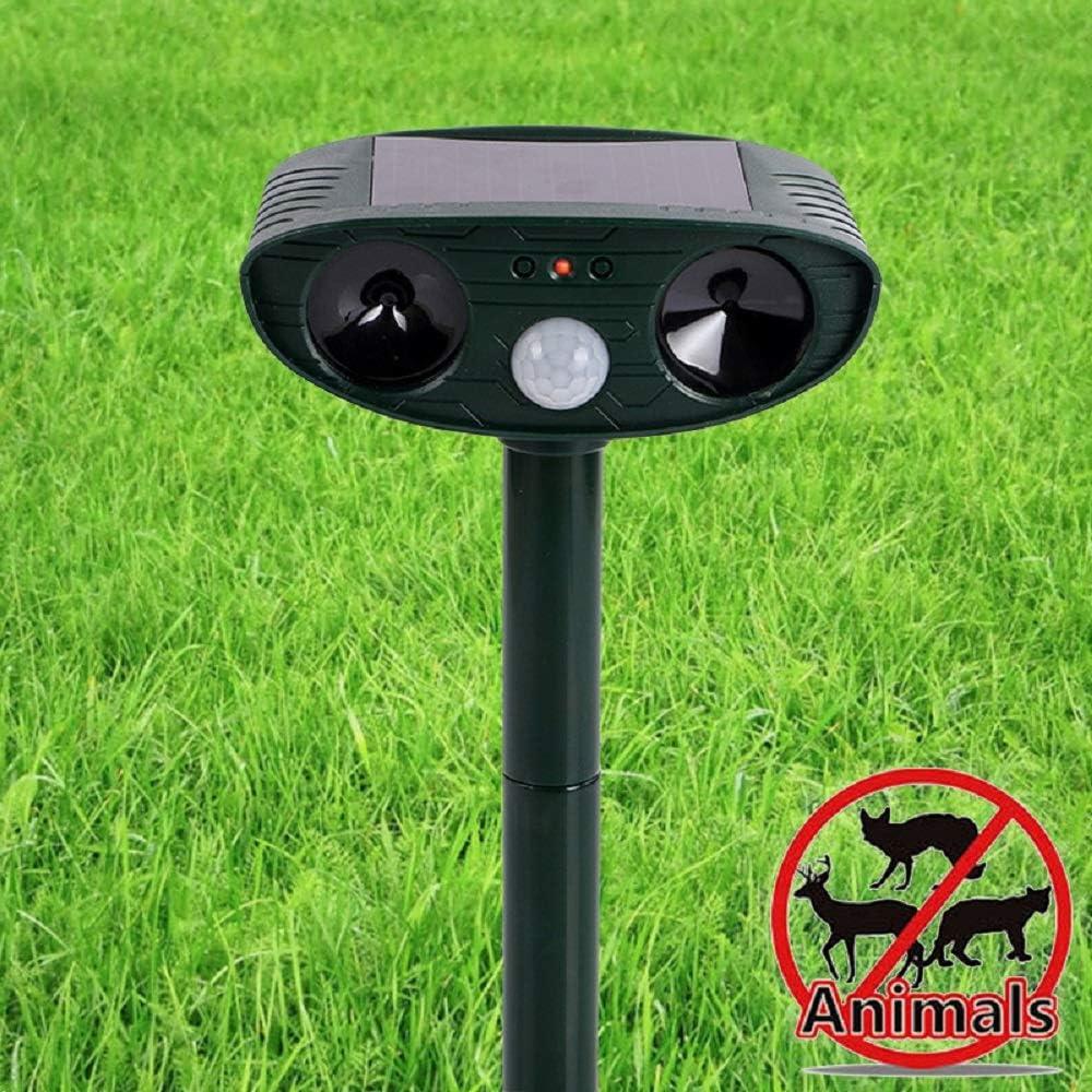 BBTWO Solar Cat Repellent Ultrasonic Animal Repeller Pet Repellent and Animal Control Solar Battery Operated Waterproof Animal Repellent Dog Scarer Deterrent for Garden Yard Field Farm