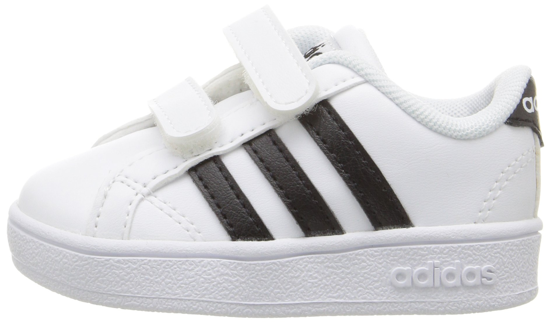 adidas Performance Baby Baseline Sneaker, White/Black/White, 6.5K M US Toddler by adidas (Image #5)