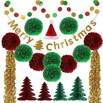 Amazon Com Samber Christmas Hanging Paper Decoration Set Christmas