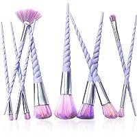 10-Pieces Zodaca Unicorn Spiral Makeup Brushes Set Eyeshadow Powder Brushes kit