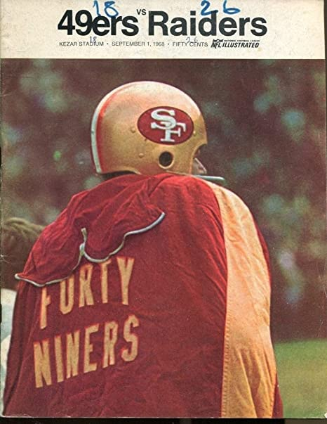 1968 San Francisco 49ers v Oakland Raiders AFL Program 9168 Kezar