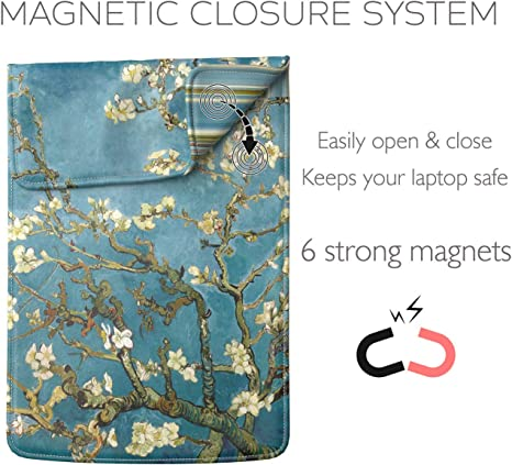 Van Gogh Blossoming Almond Tree MacBook Sleeve Air Pro 12 13 15 inch HP Asus Sony Dell Lenovo Laptop Case LS-VVG-02