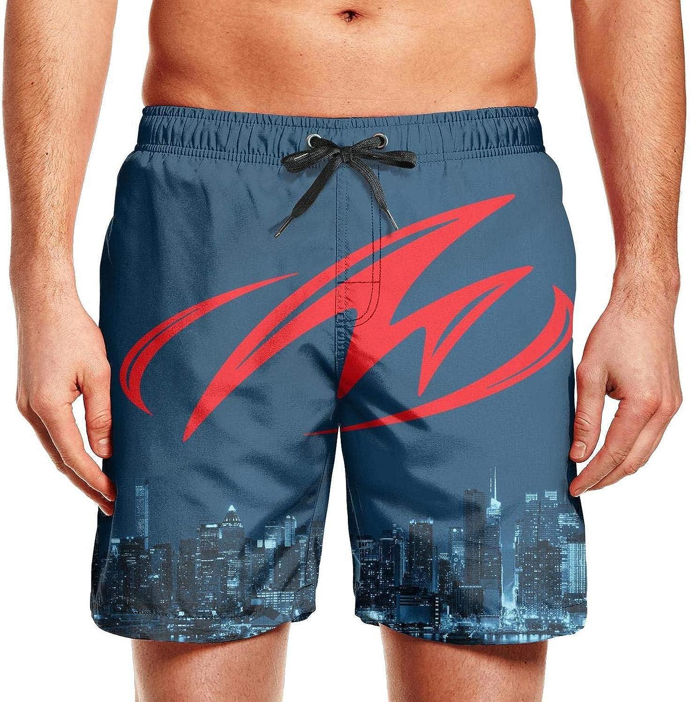 Holiday Adjustable Beach Swim Shorts Novelkseer Man Beach Shorts Monterey-Boats-Logo-m-Blue