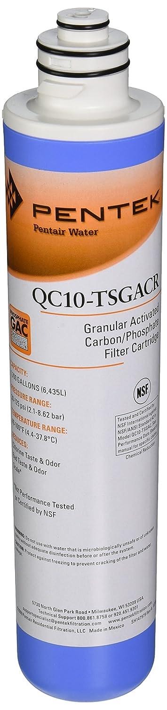 Pentek QC10-TSGACR Undersink Quick-Change Replacement Filter Cartridge by Pentek PENTEK-QC10-TSGACR