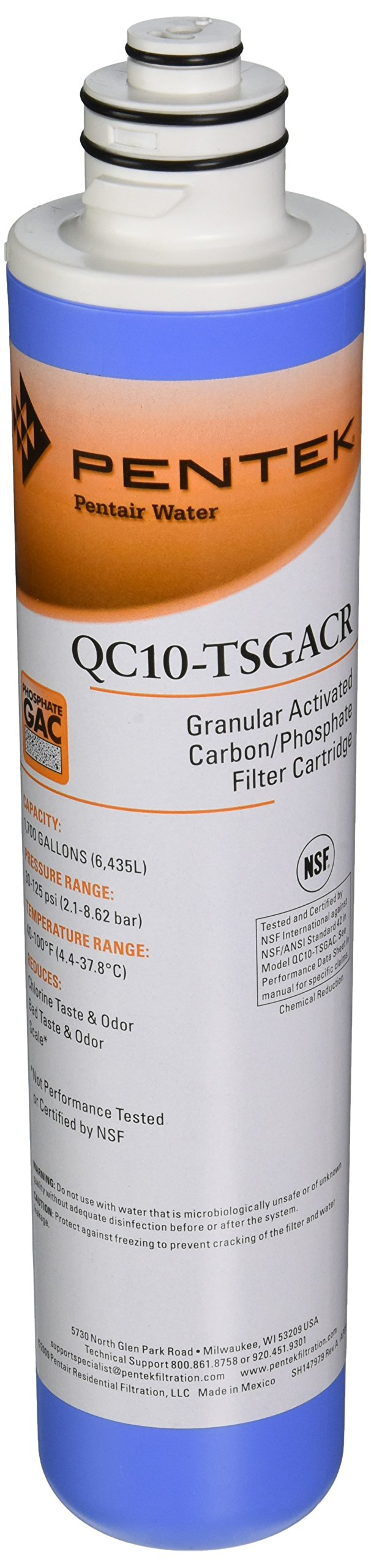 Pentek QC10-TSGACR Undersink Quick-Change Replacement Filter Cartridge by Pentek