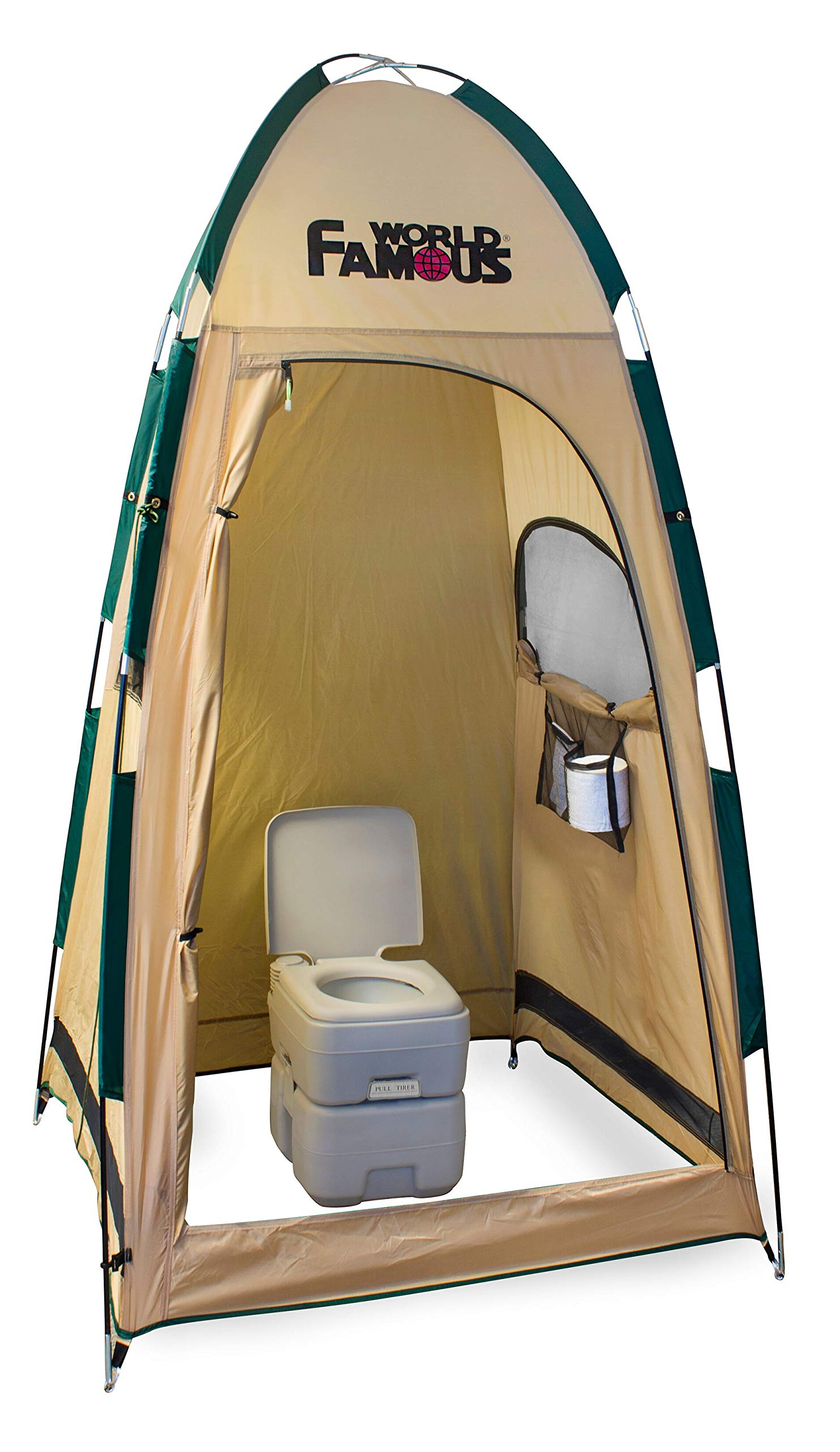 World Famous Porta-Privy Privacy Bathroom Tent Shelter by World Famous
