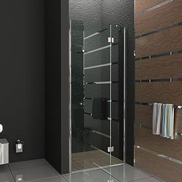 Duschabtrennung glas nische  Rahmenlose Nischentür Trennwand Duschwand Duschabtrennung Echtglas ...