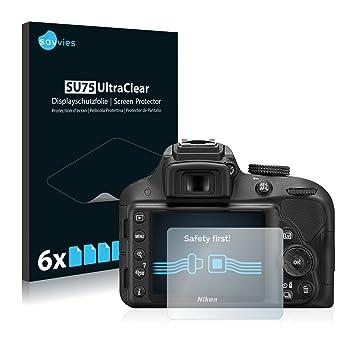 savvies Protector Pantalla Compatible con Nikon D3300 (6 Unidades ...