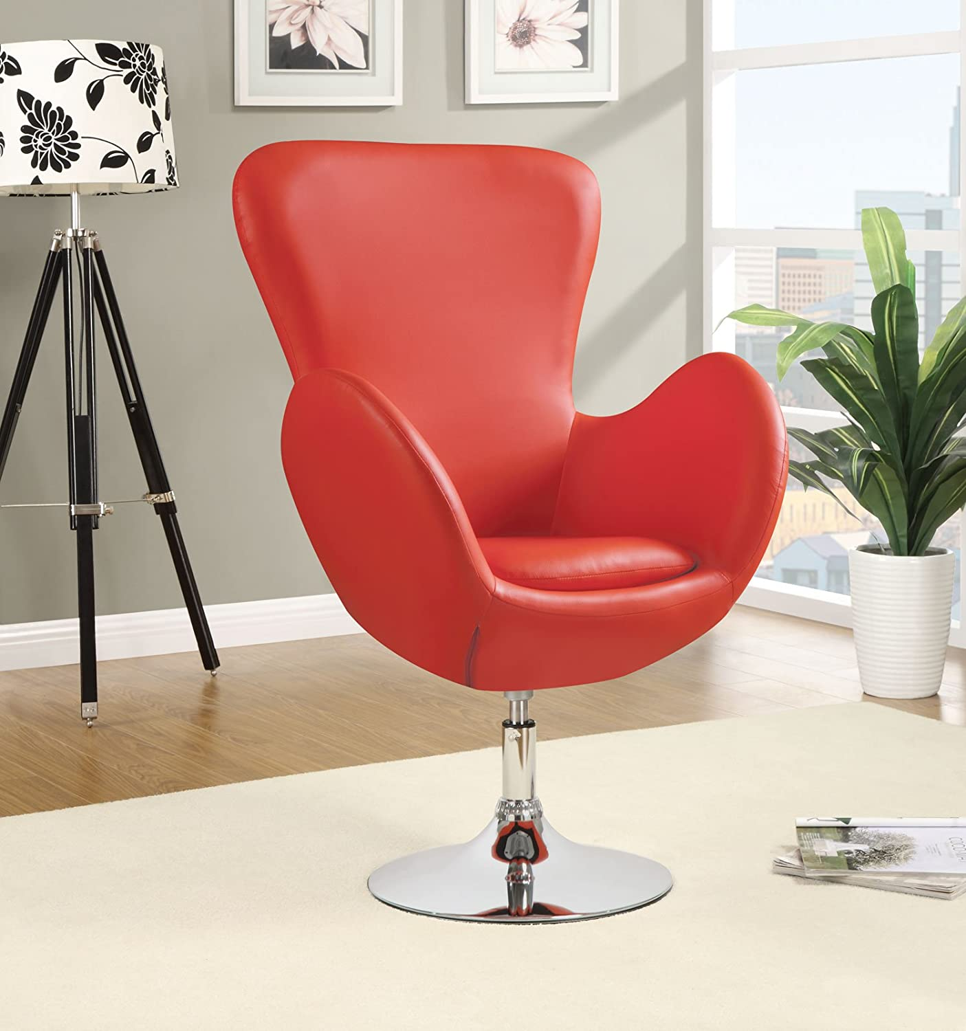Amazon.com: Coaster Home Furnishings 902101 Leisure Swivel Chair, Red:  Kitchen U0026 Dining